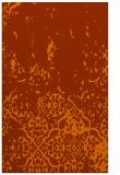 rug #1113374 |  red-orange damask rug
