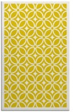 rug #111349 |  yellow circles rug