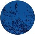 rug #1113506   round blue damask rug