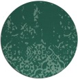 rug #1113530 | round blue-green rug