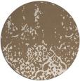 rug #1113630 | round mid-brown damask rug