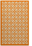 rug #111365 |  orange circles rug