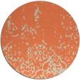 rug #1113686 | round orange damask rug
