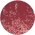 rug #1113702 | round pink traditional rug