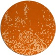 rug #1113746 | round red-orange traditional rug