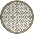 rug #111401 | round white borders rug