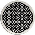 rug #111405   round black circles rug