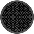 rug #111409   round black circles rug