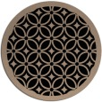rug #111413   round black circles rug