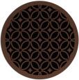 rug #111417 | round brown borders rug