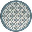 rug #111425 | round white circles rug