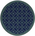 rug #111433 | round blue-green borders rug