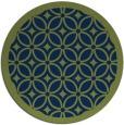 rug #111437 | round green rug