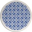rug #111441 | round blue borders rug