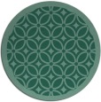 rug #111457 | round blue-green borders rug