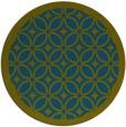 rug #111461 | round green circles rug