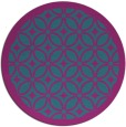 rug #111465 | round blue-green borders rug