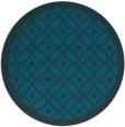 rug #111481 | round blue borders rug