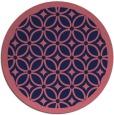 rug #111493 | round pink borders rug