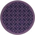 rug #111497   round purple circles rug