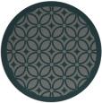 rug #111529 | round blue-green borders rug