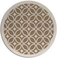 rug #111553 | round mid-brown circles rug