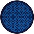 rug #111569 | round blue borders rug