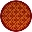 rug #111589 | round red-orange borders rug