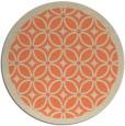 rug #111597 | round beige borders rug