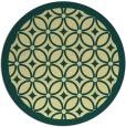 rug #111605 | round yellow borders rug