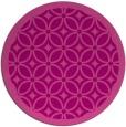 rug #111609 | round pink borders rug