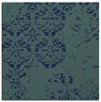 rug #1116090 | square blue damask rug