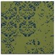 rug #1116094 | square green damask rug
