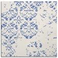 rug #1116098 | square blue damask rug