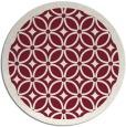 rug #111613 | round pink borders rug