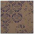 rug #1116158 | square blue-violet damask rug