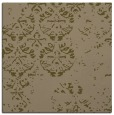 rug #1116166 | square mid-brown damask rug