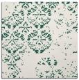 rug #1116186 | square blue-green damask rug