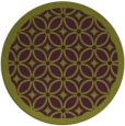 rug #111629 | round green circles rug