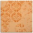 rug #1116322 | square red-orange damask rug