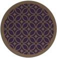 rug #111633   round purple borders rug