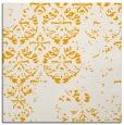 rug #1116402 | square light-orange damask rug