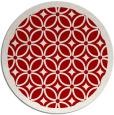 rug #111641 | round red circles rug