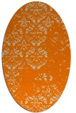 rug #1116418   oval orange faded rug