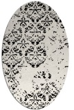 rug #1116422 | oval white faded rug