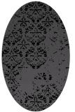 rug #1116426 | oval black graphic rug
