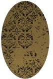 rug #1116446 | oval brown graphic rug