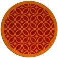rug #111645 | round orange circles rug