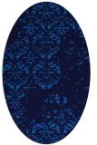 rug #1116450 | oval blue faded rug