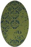 rug #1116462 | oval green traditional rug